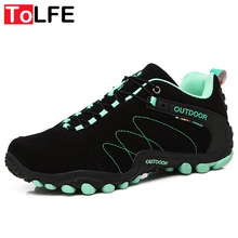 2016 Autumn Winter Men Hiking Shoes Rubber Waterproof Men Climbing Shoes Women Lace Up Trek Outdoor Sports Hiking shoes Boots