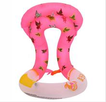 1X Kids Life Vest For Children Kids Adults Inflatable Swimming Circle Learning Aid Neck Collar Floating Ring 35cmx43cm(China)