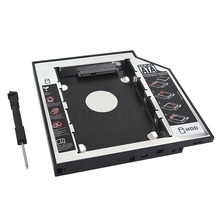 Hot SSD HDD HD Hard Disk Driver Caddy 12.7mm External Case SATA to SATA plastic 2nd for CD DVD DVD-ROM Optical Bay for Laptop
