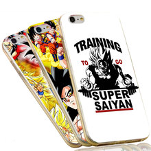 Soft Silicone TPU Case For iPhone 7 6 6S Plus 4 4S 5C 5 SE 5S Training To Go Super Saiyan Dragon Ball Z Phone Case Cover