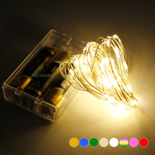 5M Battery Power Waterproof Copper Wire Led String Lights Christmas Festival Wedding Party Decoration Led Strips Lamp 50leds