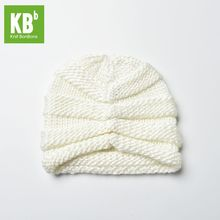 2017 KBB Spring Comfy Kawaii White Ridged Pattern Designe Yarn Knit Women Lady Delicate Winter Hat Beanie Female Cap(China)