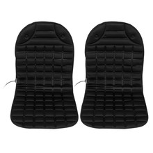 2pcs Conjoined Car Heated Seat Cushion Heating Pad Cover Hot Warmer Separated Control LO/OFF/HI Mode for Cold Winter Driving(China)