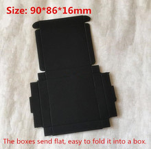 100pcs/lot 9*8.6*1.6cm Black Paperboard Packing Box Craft Gift Packing Boxes Candy box Cosmetic Handmade Soap Package Box