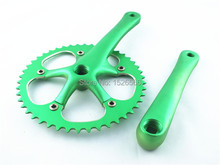 Bicycle cranksets Cycling Bike Single speed  bicycle crank 46T crankset cycle multicolor cnc
