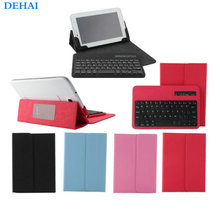 "2016 New For Samsung Galaxy Tab 2 7.0"" P3100 P3110 P6200 P6210 Stander Leather Case + Wireless Removable Bluetooth Keyboard"