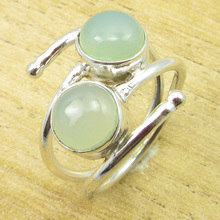 Fiery Chalcedony GEM Ring Size US 8 ! Silver Plated Jewelry GIFT FOR LOVED ONES(China)
