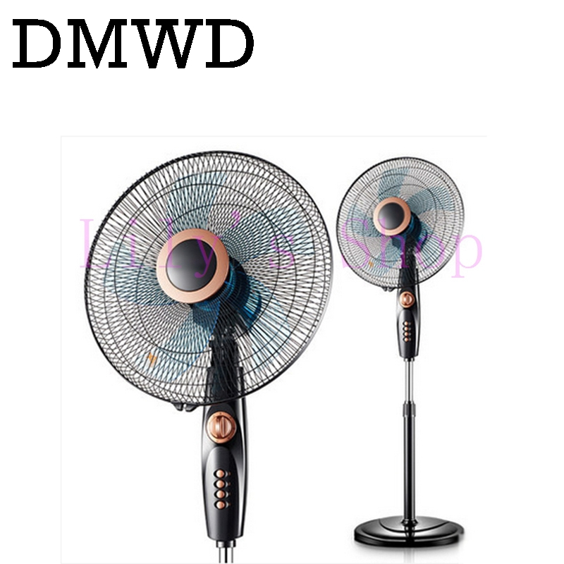 DMWD Household electric fan air standing fan super mute Floor Fans student dormitory timed bedroom vertical ventilation cooler<br>