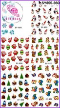 10 PCS / LOT CHRISTMAS & HALLOWEEN & EASTER & NEW YEAR DESIGN NAIL ART  STICKER 120 DESIGNS IN 1  WATER DECAL