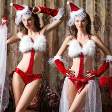Hot Sales lingerie Sexy Woman Christmas Costume Sexy Santa Claus Cosplay Costume Babydoll Lingerie Halloween Costumes for Women