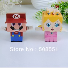 Free Shipping Cheerful Super Mario Favor Boxes Paper Chocolate Boxes Party Gifts Packaging Box 12pcs