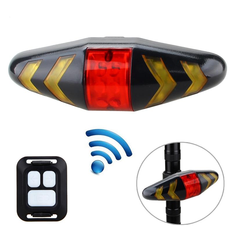 LED Bicycle Taillight Brake Light Indicator Remote Remote Control Warning Cordless