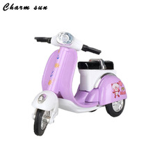11*7*3.5cm Alloy Motorcycle Model Retro Three Small Sheep Toy Car Children Simulation Battery Scooter Children  Toy