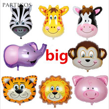 1pc Big Animal Head Foil Helium Balloons Animal Theme Party Decor Children's Gay Gifts Balons helium Inflatable Balaos supplies