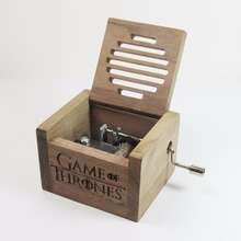 Handmade Nature wood hand crank music box Game of Thrones(China)