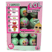 24PCS/SET LOL Surprise Doll Magic Change Egg Ball Doll Action Figure Toy Novelty Kids Unpacking Dolls Girls Funny Dress Up Gift(China)