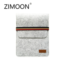 "Zimoon 9.7"" Fashion Pad Bag Wool Felt Inner Tablet MID Sleeve Case Carrying Handle Bag For iPad 2/3/4 iPad Air 1/2(China)"