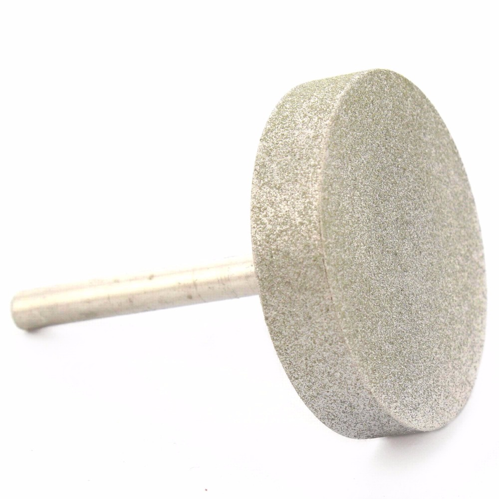 50 mm Cylinder Diamond Grinding Head Coated Cylindrical Burr Bit Mounted Points Shank 6mm Lapidary Tools for Stone Gemstone Jade<br>