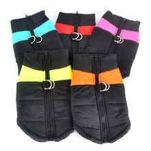 S~5XL Pets Sleeveless Warm Waterproof Polyester Jacket new brand dog clothes winter coat for Shaggy hound Labrador Golden Dog(China)
