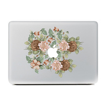DallowayCabin New Fashionable Colorful  Laptop Protective Skin Rose Flowers Vinyl Sticker Decal  for Macbook 11 12 13 15 inch