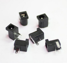 10Pcs Hot Sales High Quality DC-005 Black and White DC Power Jack Socket Connector DC005 5.5*2.1mm 2.1 socket Round the needle