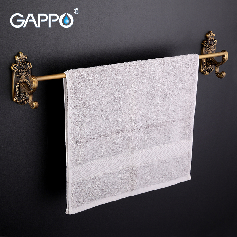 GAPPO 1Set Wall Mounted 60cm single towel bars antiquities Bathroom accessories Towel Holder hooks restroom Towel Rack G3601<br>