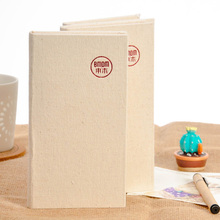 Hong Kong BMDM Natural Sackcloth Notepad Kraft Paper Cloth Notebook Simple Temperament 2PCS