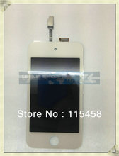 LCD with touch digitizer for ipod touch 4 white by free DHL, UPS or EMS; 20pcs/lot