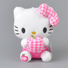 Apple Hello Kitty Stuffed Plush Toy, Baby Kids KT Doll Gift Free Shipping(China)
