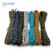 Camouflage 5 Meters Paracord 550 Parachute Cord Lanyard Mil Spec Type III 7 Strand Camping Survival Equipment Tents Rope(China)