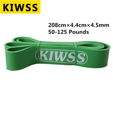 Kiwss Green Women and Men Fitness Equipments Body Building Pull Rope Practical Training Yoga High Elastic Resistance Bands