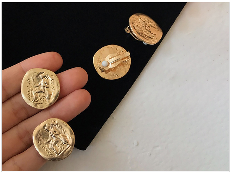 Coin Earrings  (2)