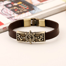 Leather Hand Chain Buckle friendship men women bracelet youth fashion show personality the latest new popular style trinket hot