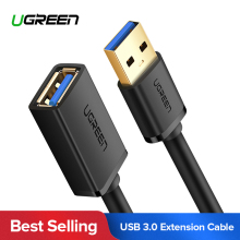 Ugreen USB Cavo di Estensione USB 3.0 Cavo per Smart TV PS4 Xbox One SSD USB3.0 2.0 a Extender Cavo di Dati mini Cavo di Prolunga USB(China)