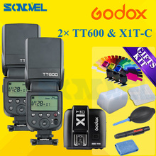 Buy 2x Godox TT600 2.4G Wireless GN60 Master/Slave Camera Flash Speedlite+X1T-C Transmitter Canon 800D 760D 750D 77D 60Da 7D 5Ds for $184.00 in AliExpress store