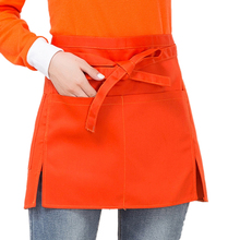 Universal Unisex Kitchen Cooking Chef Half Short Waist Apron Waiter with Double Pockets Muti-color Cooking Restaurant Apron