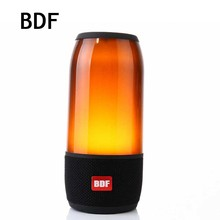 BDF LED Portable Bluetooth Speaker P3 Waterproof Wireless Stereo Bass Soundbar Active Speaker Flashing Light MIC HI-FI Speaker(China)