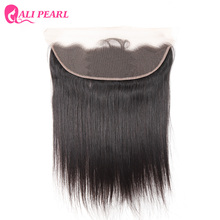 AliPearl Hair Ear to Ear Lace Frontal Closure 13X4 with Baby Hair Pre Plucked Brazilian Straight Human Hair Free Part Remy Hair