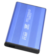 "HOT-USB 3.0 HDD SSD SATA External Aluminum 2.5"" Hard Drive Disk Box Enclosure Case up to 1TB 2.5"" SATA external case"