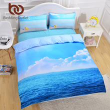 BeddingOutlet Factory Direct Starfish And Ocean Bedding Set Cool 3D Print Duvet Cover Soft Duvet Cover Set 3pcs Twin Queen King