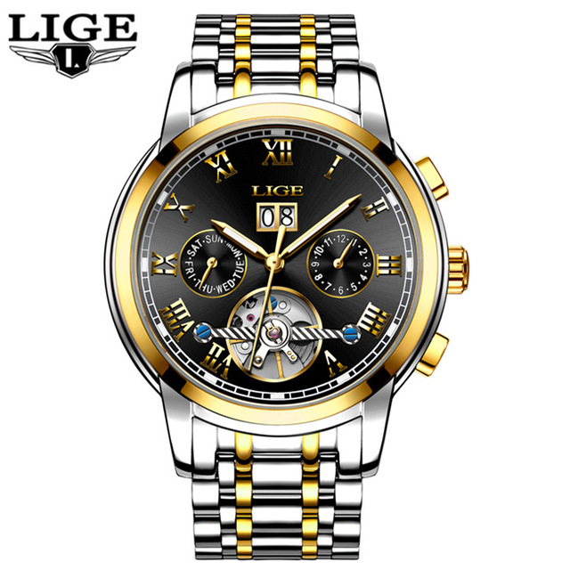 2017 Mens Watches Luxury Automatic Mechanical Watch Men Full Steel Business Waterproof Sport Watches Relogio Masculino<br>