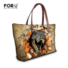 FORUDESIGNS Customize Women Messenger Bags Cool Animal Dinosaur Crossbody Bag For Ladies Female Casual Beach Shoulder Bag Bolsas