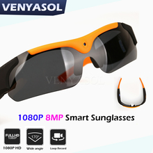 VENYASOL 1080P Smart Glasses Camera Polarized Sunscreen DV Mini  Camcorder Action Sport Video Recorder Cam  Driving