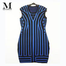 Italian Fahion 2017 Autumn New Create Simple Inter Vertical Stripes Cultivate One's Morality Knitting Sweater Dresses One Size(China)