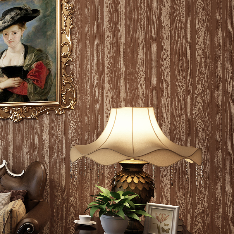 Vintage Imitation Wood Textured Non-woven Wallpaper Roll Papel De Parede 3D Wall Papers Home Decor Living Room Bedroom Backdrop<br>