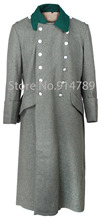 WWII GERMAN WH M36 FIELD GREY WOOL GREATCOAT COAT -31736