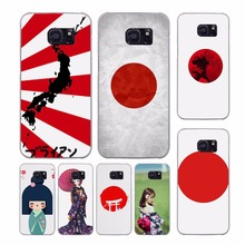 japan sun japnese flags design clear phone case for Samsung Galaxy S8 S8Plus S6 S7edge S5 S4 Note5