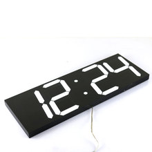 Large Digital Wall Clock Modern Design Display Countdown Calendar Temperature Alarms Wall Watch In The Living Room Home Decor(China)