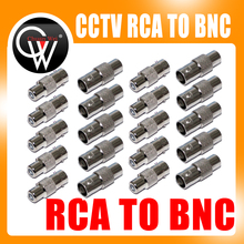 10pcs/lot CCTV Connector BNC Female to RCA Female Jack Video Adapter/BNC RCA Connector Free shipping(China)