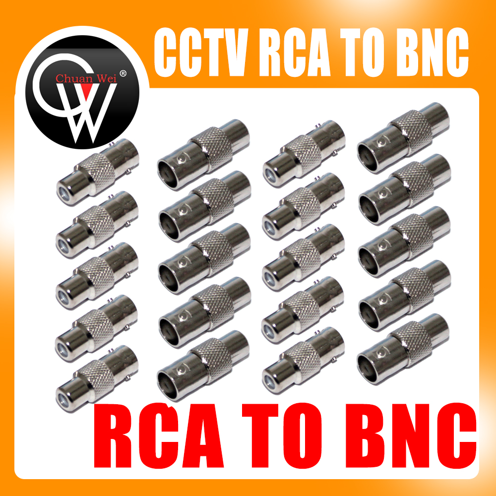 10pcs/lot CCTV Connector BNC Female to RCA Female Jack Video Adapter/BNC RCA Connector Free shipping(China (Mainland))